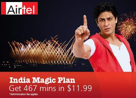 "Airtel Special ""India Magic"" Offers For Canada To India Calling"