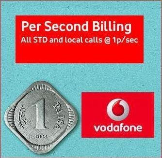 Vodafone Pay Per Second Billing Plan