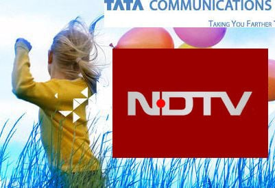 NDTV Tata Communication In Content Pact