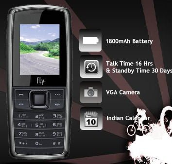 Fly Mobile Introduces DS160 Dual-SIM Mobile With 30 Days Battery Backup