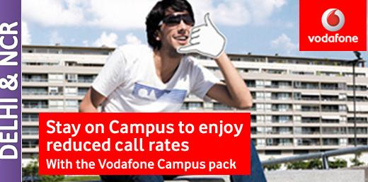 Stay On Campus To enjoy Lowest Call Rates In Delhi With Vodafone