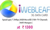 iWEBLEAF Comes With Cheapest 3G Data Card At Rs 1300