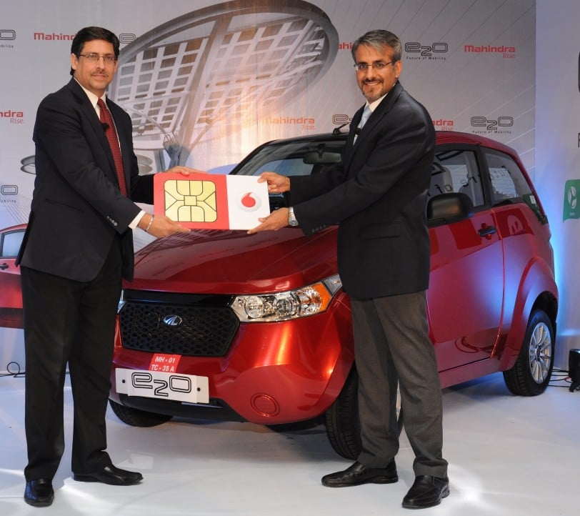 Vodafone India connectivity to Mahindra Reva e2o