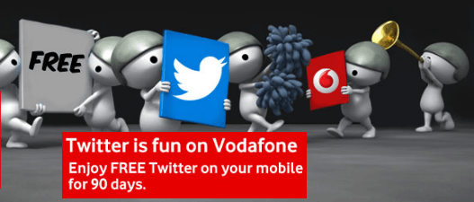 Free Twitter on Vodafone India