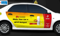Huawei and Airtel offer Free 3G Internet Access to EasyCabs Passengers in Delhi