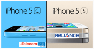 Reliance Communications iPhone 5C & 5S Offer