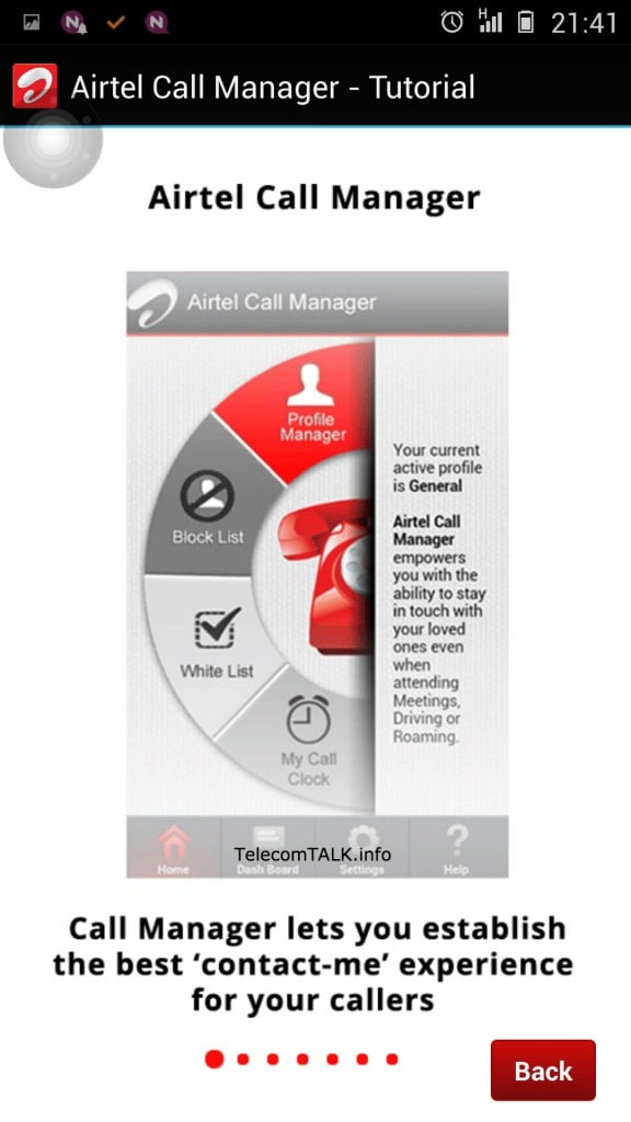 Airtel Call Manager Features