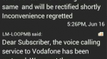 Vodafone unblocks incoming calls from Loop Mobile Numbers, after settling interconnection charges