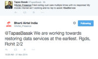 Airtel's network down in Delhi-NCR, Customers irked