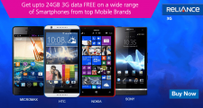 Reliance offer upto 24GB 3G data with new smartphones