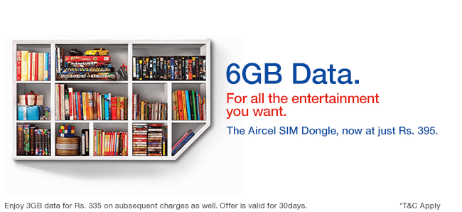3G Micro 352  Aircel Chennai 3g plan and 3G services