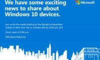 Microsoft rolls out invites for the October 6th event, expected to unveil Windows 10 devices