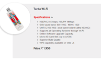 Vodafone launches 3G wingle called 'Turbo Wifi' for Rs.1950