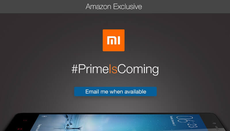 Xiaomi Redmi Note 2 Prime teaser Amazon