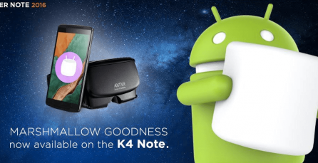 Lenovo started rolling out Android Marshmallow update for K4 Note