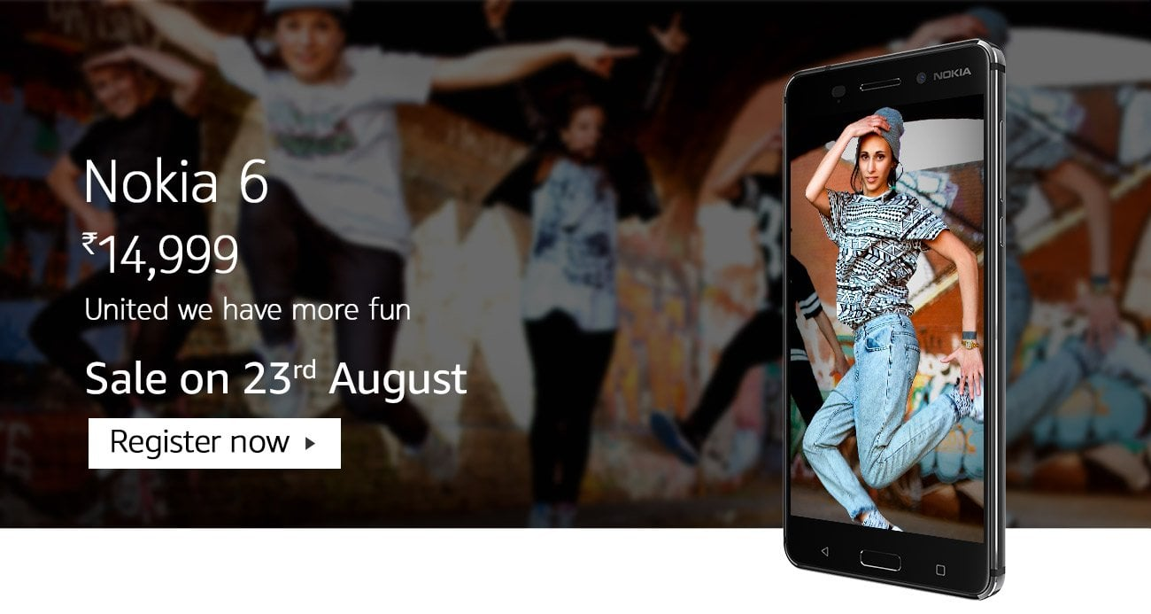 Nokia 6 Pre-Registrations Started on Amazon India