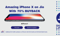 Reliance Jio Offering Apple iPhone X With 70% Buyback and Flat Rs. 10,000 Cashback from Citi Bank