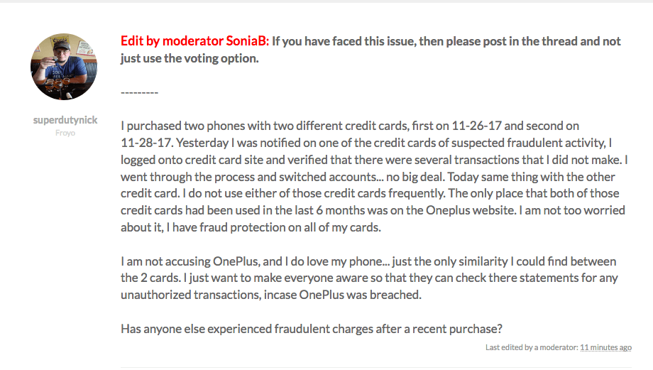 OnePlus issues statement as some buyers complain of credit card fraud