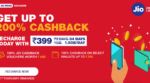 Reliance Jio Introduces 200% Cashback Offer On a Minimum Recharge of Rs 399 For JioPrime Users