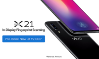 Vivo X21 With In-Display Fingerprint Scanner is Now Available for Pre-Booking in India