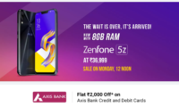 Asus Zenfone 5Z With 8GB of RAM and 256GB Storage Can Be Picked Up for Rs 36,999 Starting July 30