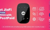 Jio Offering Rs 500 Cashback on Combo Purchase of JioFi and Jio Postpaid Connection