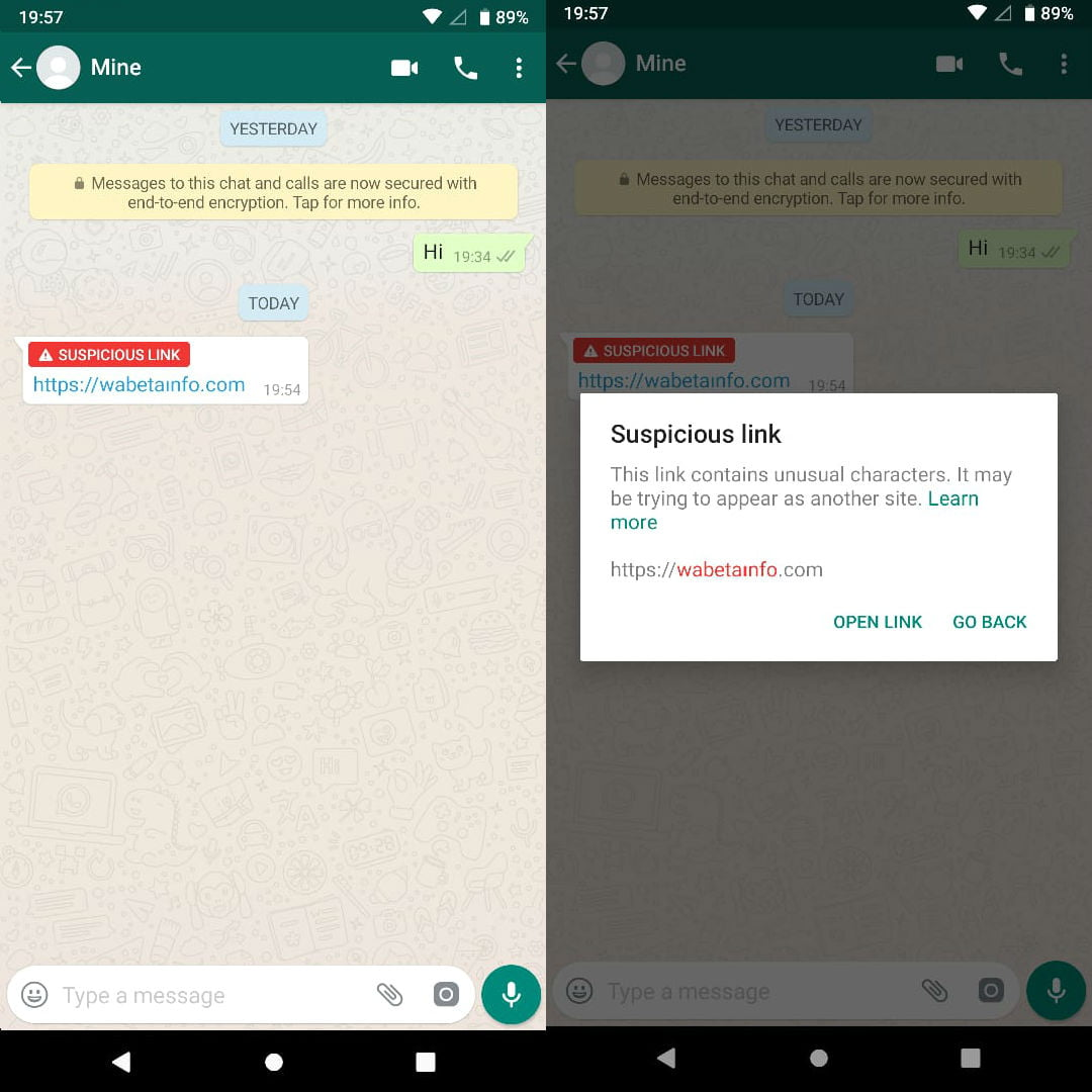 whatsapp-suspicious -link-detection-android
