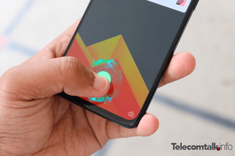 The OnePlus 6T's in-display fingerprint sensor becomes faster with every use